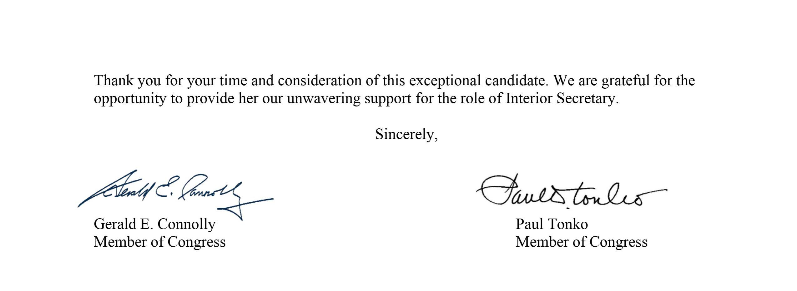 Letter to President-elect Biden
